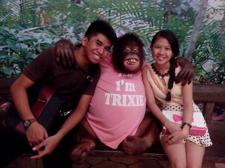 The happiest Zoo we've ever been to. A Zooper memorable date with my girl. - Rio Nacum, Avilon Zoo; Dec. 25, 2014.