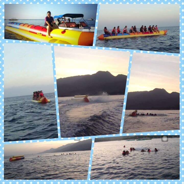 Wet, wild and awesome banana boat ride with my insane office mates - Sheila Tsuh, Paseoverde Beach Resort in Laiya Batangas; March 28, 2015